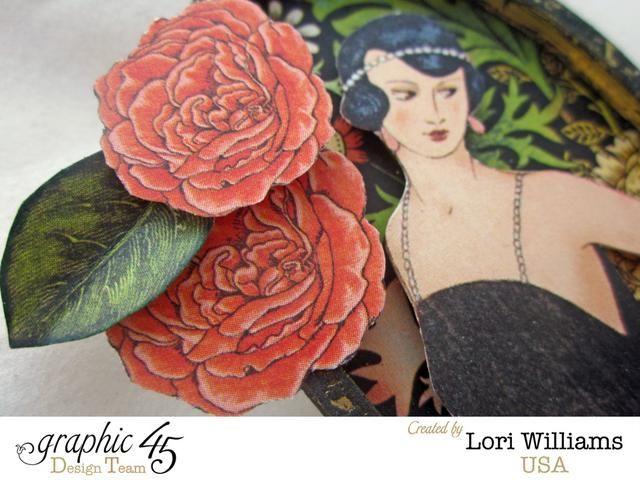 Fussy recortar imágenes de la colección Couture y montaje con cinta de espuma en el interior de su pin.