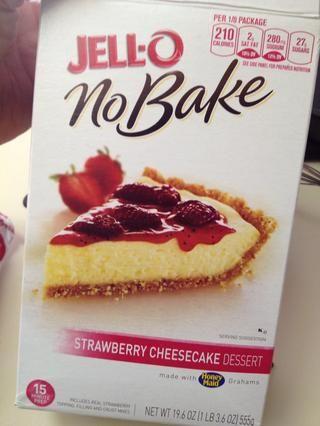 A continuación, apoderarse de su caja de pastel de queso sin hornear.