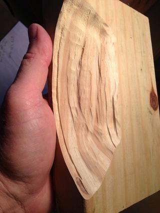 Todavía tengo un pulgar izquierdo, debo decir que la madera debe ser colocado en un vicio para que don't shoot it across the room.