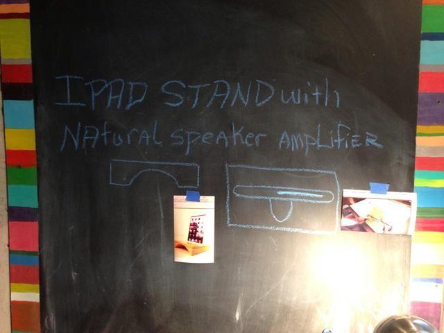 Quiero construir un ipad / iphone 5 stand que es intercambiable y tiene un altavoz acústico natural que actúa como un amplificador. Yo te mostraré cómo lo hice y voy a tener una prueba del nivel db aumentará!