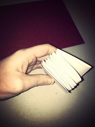 Hasta que haya doblado todas las columnas. Este es el interior de su libro ...