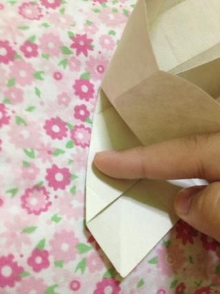 Don't forget to fold the outer part. Do the same on the remaining parts.