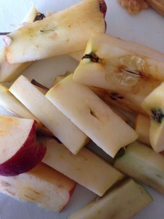 Recordatorio: se puede jugo de los corazones de manzana después de más jugo.