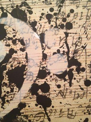 Pintura en capa fina donde estaba la cinta pintores.