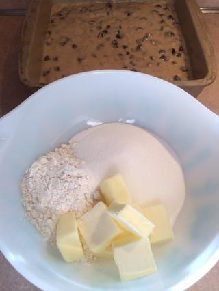 Migas superando ... la harina, el azúcar, la mantequilla y la vainilla.