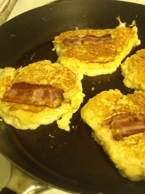 Cómo hacer tocino Pancakes! ?????? Receta
