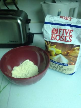 aquí's the almond flour before the all purpose flour.