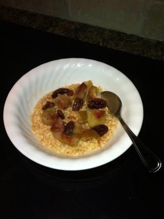 Consejo: Agregar a la izquierda sobre las manzanas al horno y relleno a un tazón de avena saludable. ¡Sabroso!