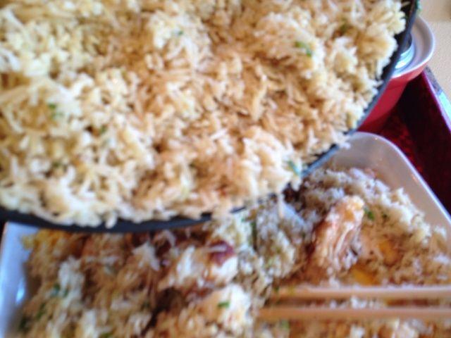 Añadir el arroz a las verduras salteadas