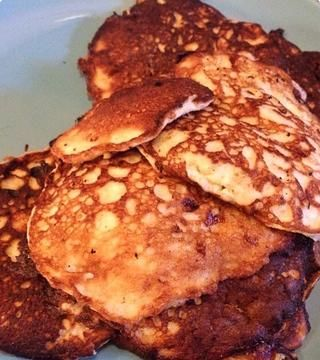 aquí's the pile of pancakes waiting to be devoured.