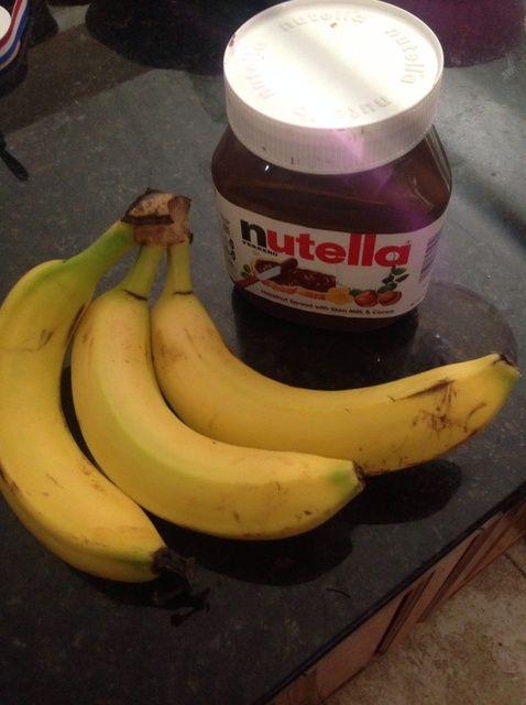 Cómo hacer plátano Nutella Helado Receta