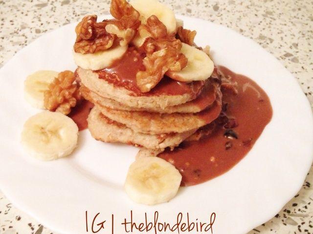 Cómo hacer plátano y nuez Pancakes Proteínas Receta