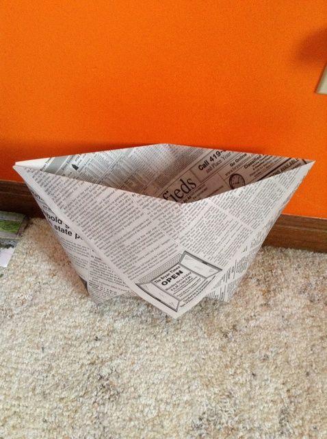 Cómo hacer cestas del periódico