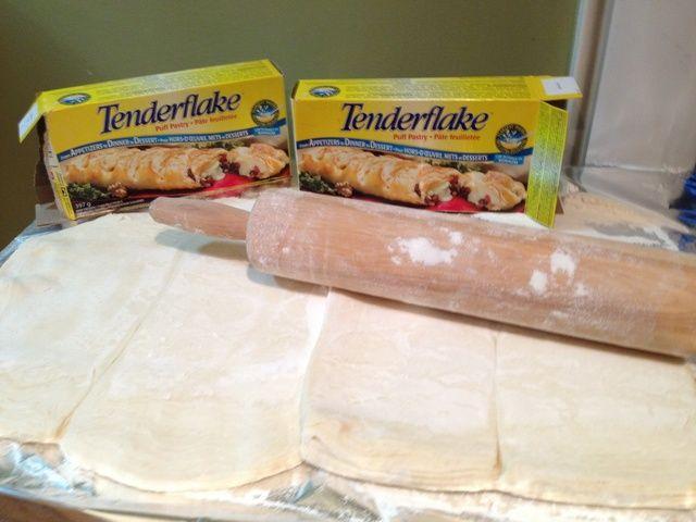 Estirar abultada Pastelería sobre una superficie enharinada. Puede que tenga que usar 2 paquetes dependiendo del tamaño de la carne.