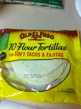 Consiga sus tortillas de harina.