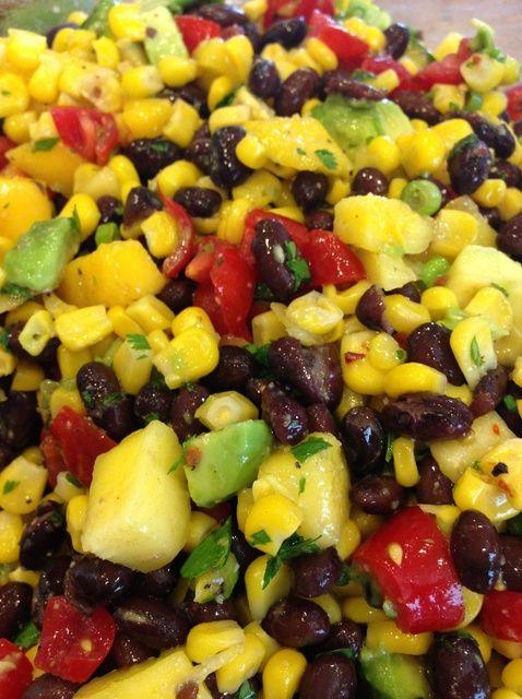 Cómo hacer Frijol Negro Mango Salsa Receta