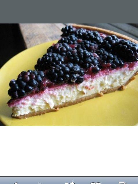 Cómo hacer Blackberry chocolate blanco Tarta de queso Receta