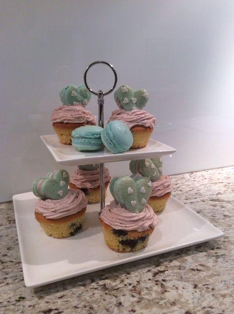 Cómo hacer Blueberry besos Cupcakes Receta