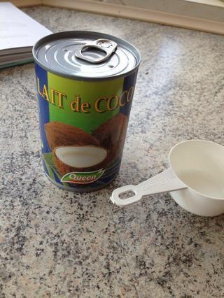 Y la leche de coco - se olvidó de que en la primera foto :)