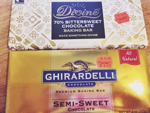 El uso de chocolate de calidad siempre hace que para un pastel sabroso!
