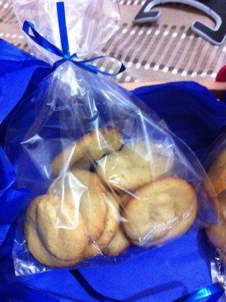 Por último, las galletas de mantequilla están listos!