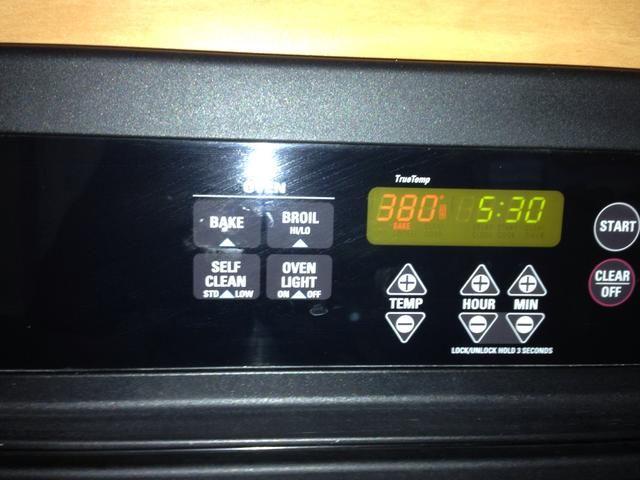 Precaliente el horno a 380 grados.