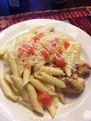 Por si fuera poco con tomate, un poco de queso parmesano y su hecho! Disfrutar :)