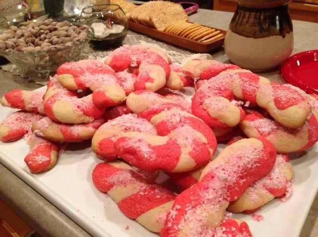 Cómo hacer del bastón de caramelo Receta de las galletas
