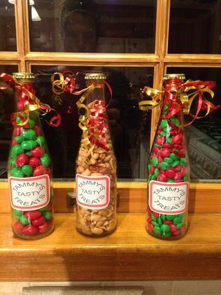 Mezcla tu regalo paquete de seis con el caramelo y maní. Tapa de seguro para la frescura.