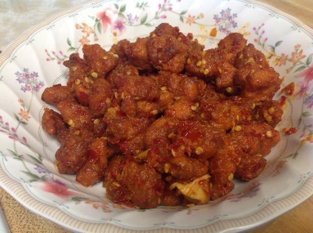 Cómo hacer pollo 65 (Spicy Chicken Fry) - Mi versión de la receta