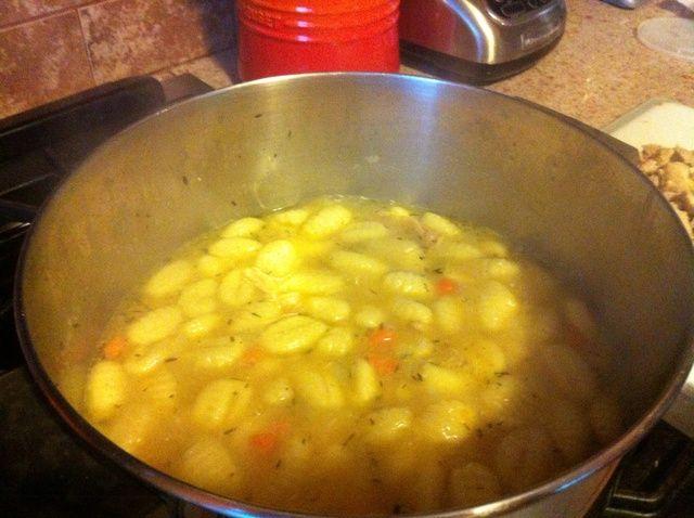Cómo hacer Pollo y Dumplings receta