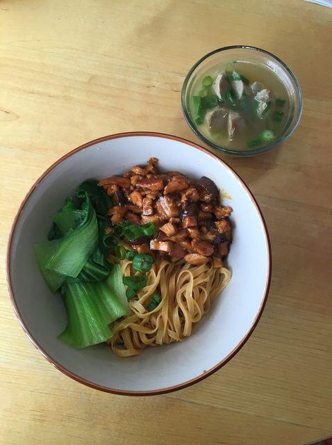 Cómo hacer pollo y de la seta de fideos (estilo indonesio) Receta