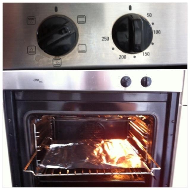 Al día siguiente: precalentar el horno a 180 grados Celsius.