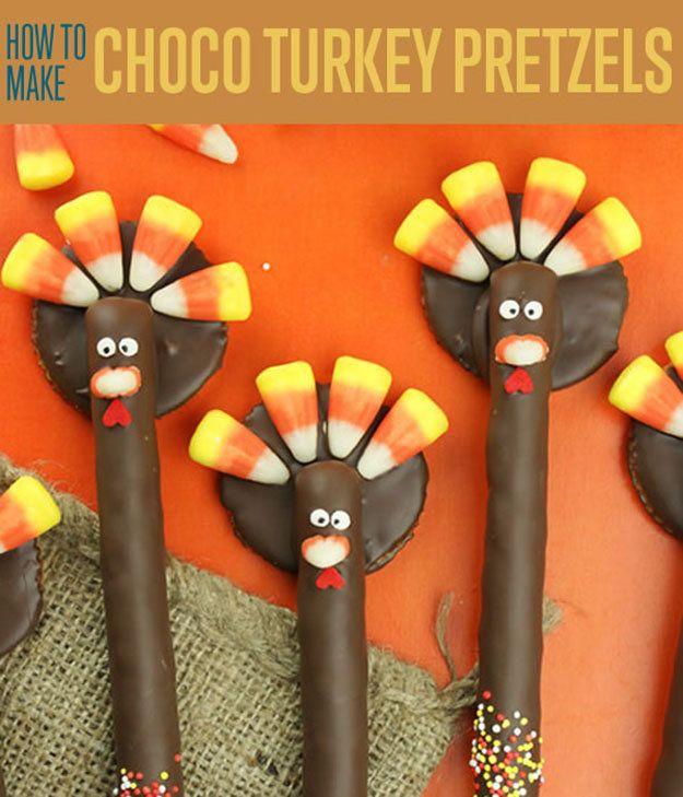 Fotografía - Cómo hacer Choco Turquía Pretzels | Lindos Postres de Acción de Gracias