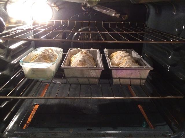 Hornee los panes en 350 ° Fahrenheit durante 55 minutos, girando la mitad, hasta que estén doradas.