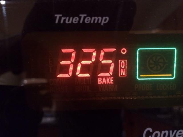 Después de 55 minutos caer el templado de su horno a 325 ° Fahrenheit.