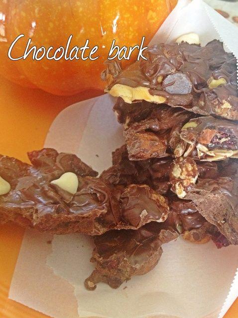 Cómo hacer chocolate corteza Receta