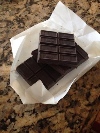 6 onzas de chocolate sin azúcar