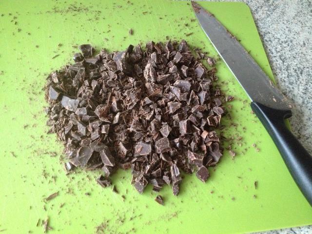 Picar el grueso de chocolate