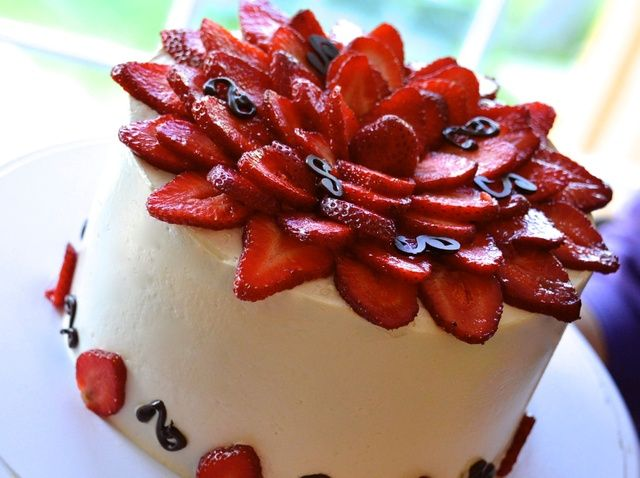 Cómo hacer Pastel de mantequilla con las fresas Receta