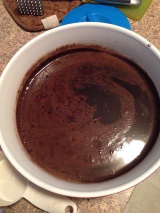 Hielo base de crema después de 4 horas en la nevera.