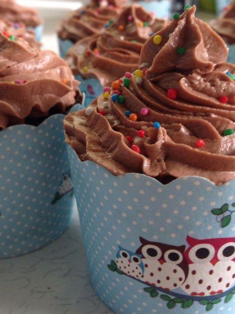 Cómo hacer chocolate Nutella Cupcakes Receta