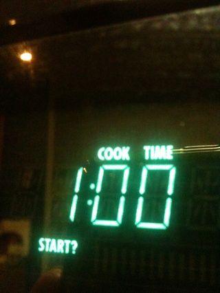 Microondas a máxima potencia durante 1 minuto.