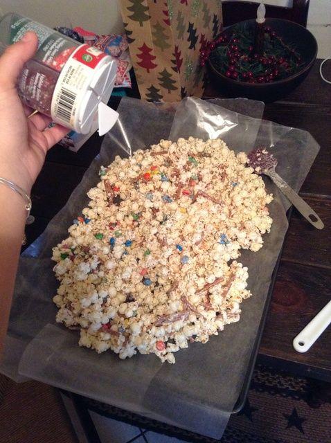 Cómo hacer Crunch Navidad Receta