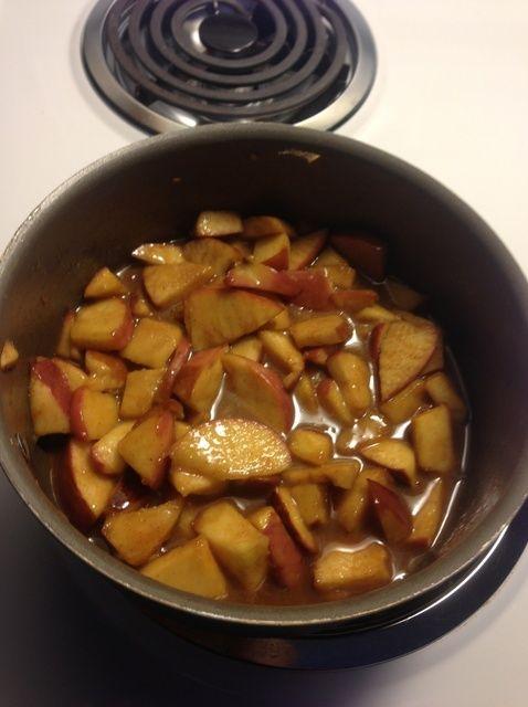 Cómo hacer manzanas canela caramelo Receta