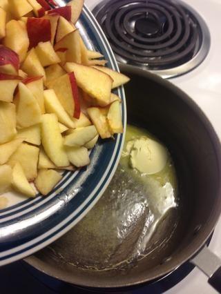 Añadir las manzanas cuando empieza fusión