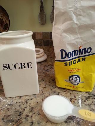 1/4 taza de azúcar granulada