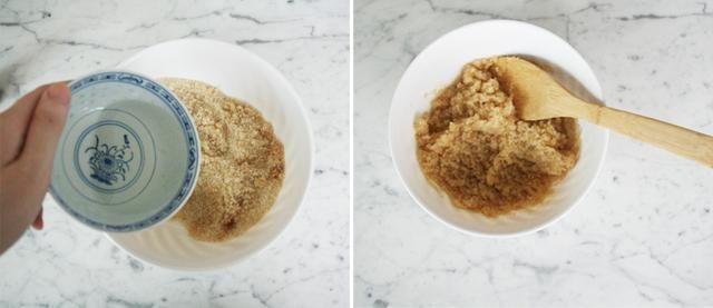 Poco a poco agregue el aceite de coco hasta que esté satisfecho con la textura y la consistencia de la maleza. Añadir menos el aceite de coco si no quieres que tu exfoliante sea demasiado grasienta.