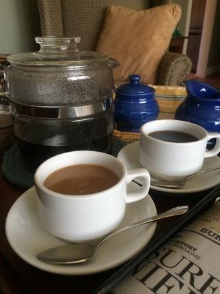 Si usted tiene tiempo para sentarse y disfrutar de un café de la forma en que estaba destinado a ser, esto es para ti. Relájese, disfrute y sentarse en su sillón favorito o relajarse con el periódico de la mañana en el patio. ¡Disfrutar! ☕️