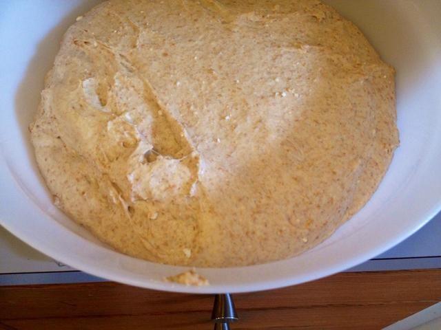 Después de 30 minutos esto es lo que la masa se parece.